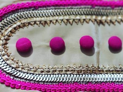 फुलकारी.Heavy दुपट्टे के लिए गले का शानदार डिजाइन। Neck Design for Plain Kurti using Lace.