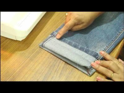 Hem Your Jeans Without Cutting Original Hem   Easiest DIY