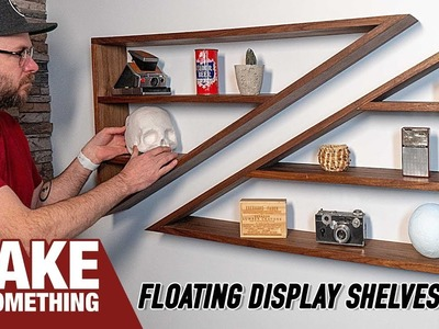 How to Make a Pair of Modern Angled Floating Shelves
