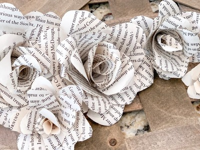 How to Make FLOWERS out of BOOK PAGES   Budget Friendly DIY   Ashleigh Lauren