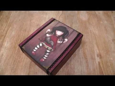 Mini album in a box with the Gorjuss girl paper collection