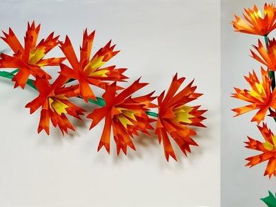 Paper Craft: How to Paper Stick Flower Idea! Paper Flower Tutorial | Jarine's Crafty Creation