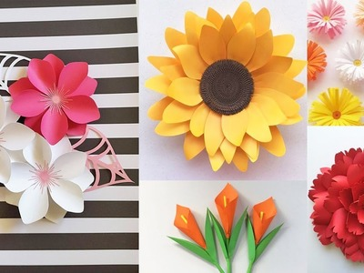Paper Flower Decoration DIY Idea | 5 Flower Idea with Paper For Room Decoration | Paper Craft