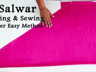 Punjabi Salwar Cutting and Stitching | Super Easy Method to make Salwar