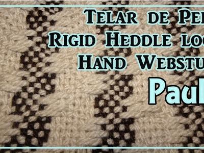 Telar María  de Peine Punto PAULA Pattern Rigid Heddle Loom Hand Webstuhl Muster Lana Wolle
