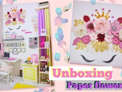 UNBOXING PAKET DARI SUBSCRIBERS   PAPER FLOWERS ROOM DECOR