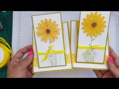 When filming goes wrong !! Daisy Delight Easel Card. Case Card Class #87 Stampin up Stamps.