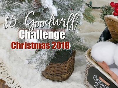 $5 GOODWILL CHALLENGE CHRISTMAS 2018 | CHRISTMAS DIY ????