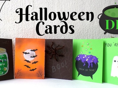 5 Halloween Cards To Make DIY | Easy & Funny Halloween Card Ideas for Kids 2018 | by Fluffy Hedgehog