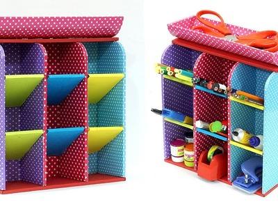 Beautiful DIY Multipurpose Organizer Made Using Cardboard | Easy Organiser from Cardboard