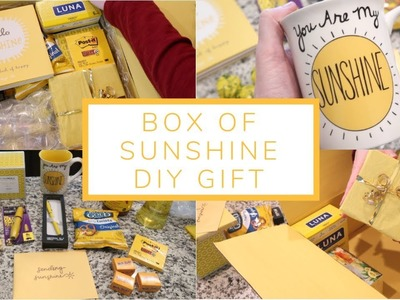Box of Sunshine DIY Gift | Care Package Idea