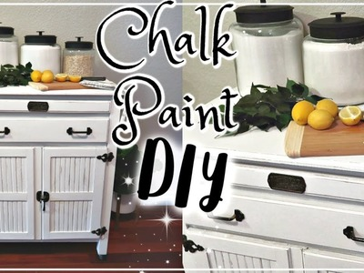 CHALK PAINTING A KITCHEN ISLAND | DIY FARMHOUSE STYLE | GOODWILL FURNITURE MAKEOVER