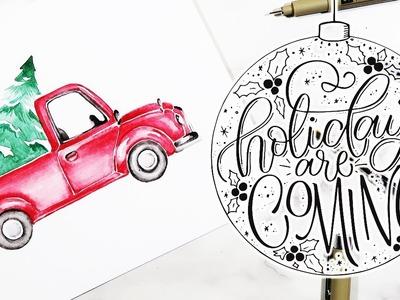 Christmas Art DIY With Ashleigh Lauren! OMG + Free Christmas Printables