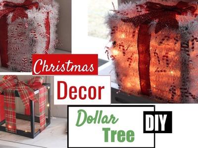 """CHRISTMAS LIGHTED """"GIFT BOXES"""" DECOR  DOLLAR TREE DIY  CHRISTMAS 2018"""