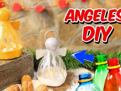 Christmas recycled decorations DIY! Christmas crafts with plastics bottles