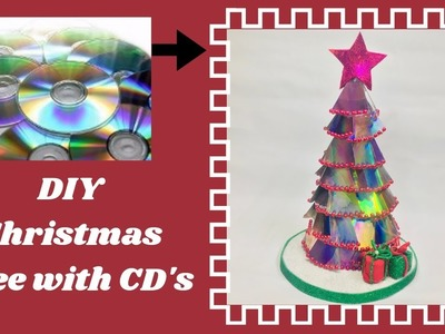 Christmas Tree made with CD's, DIY Christmas tree, DIY Christmas Decorations