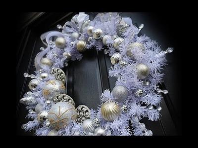 Crystal & Sparkle Christmas Wreath - Dollar Tree DIY