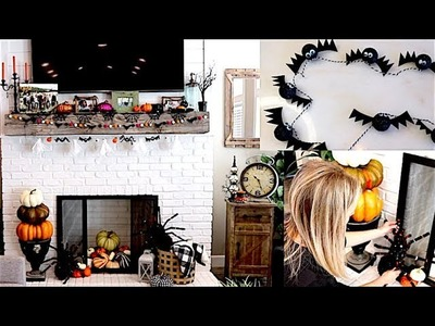 Decorate For Halloween With Me & DIY Halloween Garlands!!
