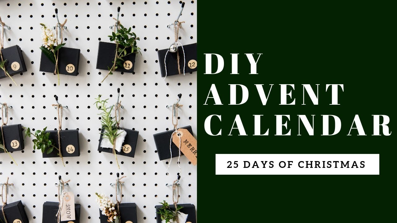 DIY Advent Calendar Pegboard   Day FIVE   25 Days of Christmas Countdown
