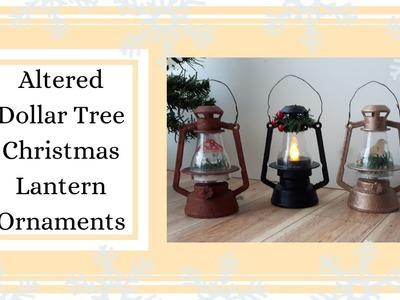 DIY Altered Dollar Tree Mini Lanterns ~ Day 7 of my DIY Christmas Ornament Series