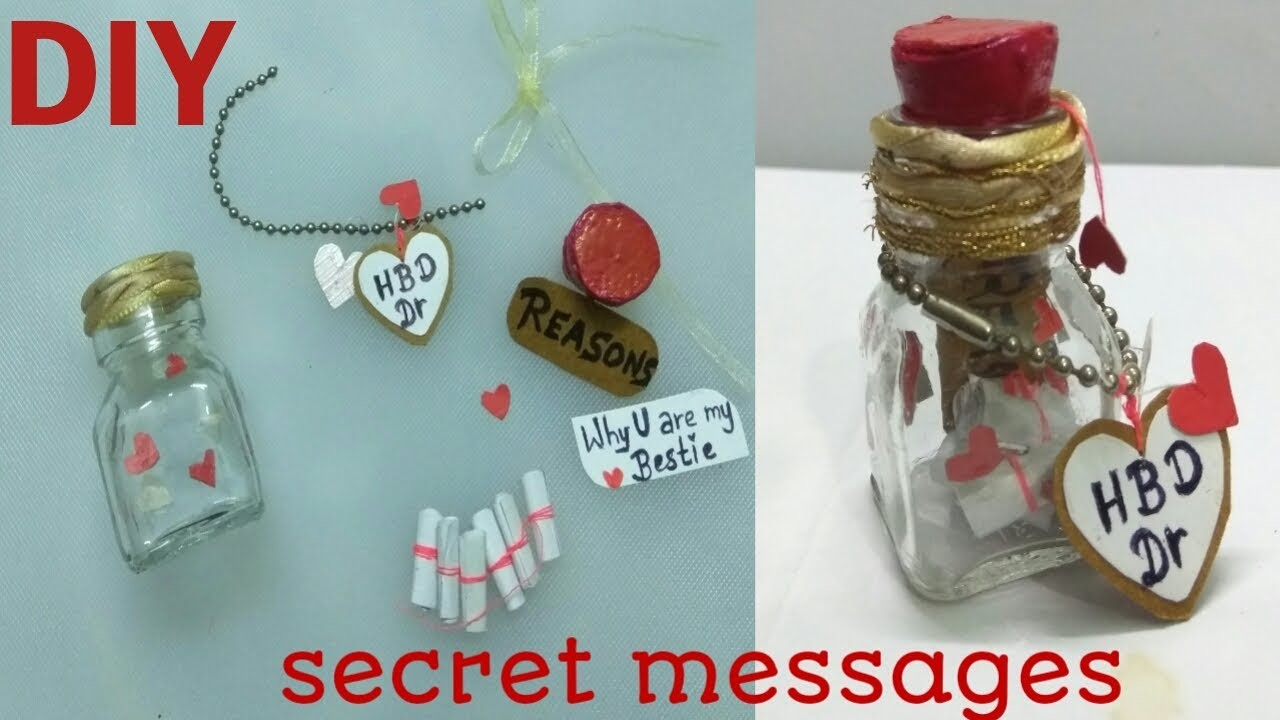 DIY. Birthday gift with secret messages for ur friends.