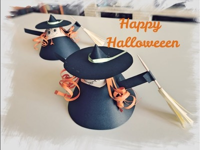 DIY - Brujita de Halloween usando Papel Reciclado