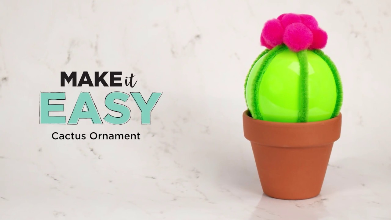DIY Cactus Ornament | Michaels