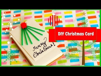 DIY Christmas card.decor |How to make Easy Handmade gift idea at home 2018 (for kids)|that desi soni
