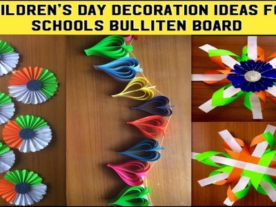 DIY Christmas decoration ideas for school bulletin board.party,birthday party colourful paper decor