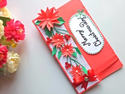 DIY Christmas greeting card - simple and easy making idea.