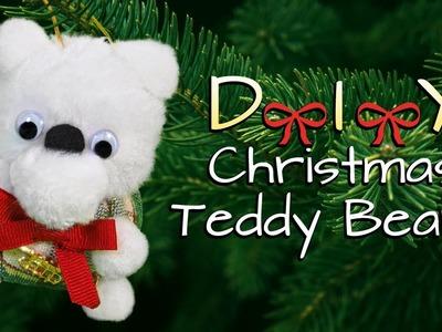 DIY CHRISTMAS TEDDY BEAR ORNAMENTS