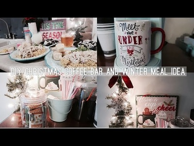 DIY CHRISTMAS THEMED COFFEE BAR | COOK WITH ME WINTER MEAL IDEA