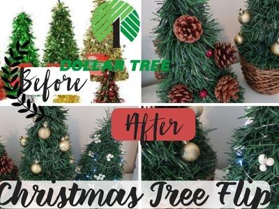 DIY Dollar Tree Christmas Decor | Christmas Tree Flip | Dollar Tree Flip