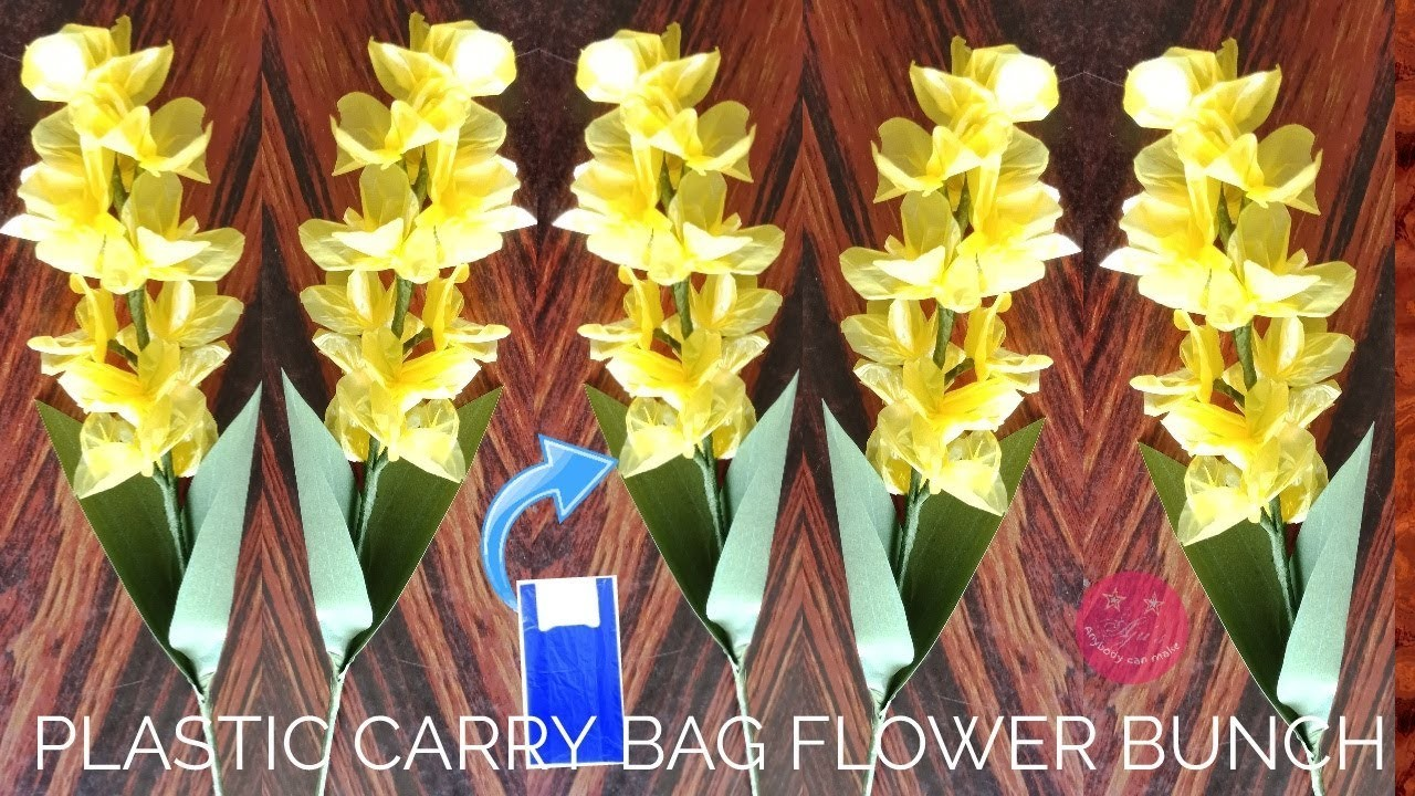 how to make flowers using polythene