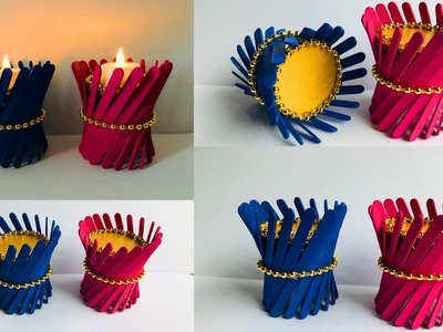 DIY Easy and Beautiful Candle Holders. Home Decorations Ideas. Easy Craft Ideas