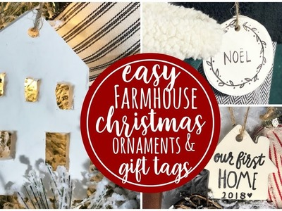 DIY Farmhouse Ornaments & Gift Tags   12ish days of Christmas ( day 6 )