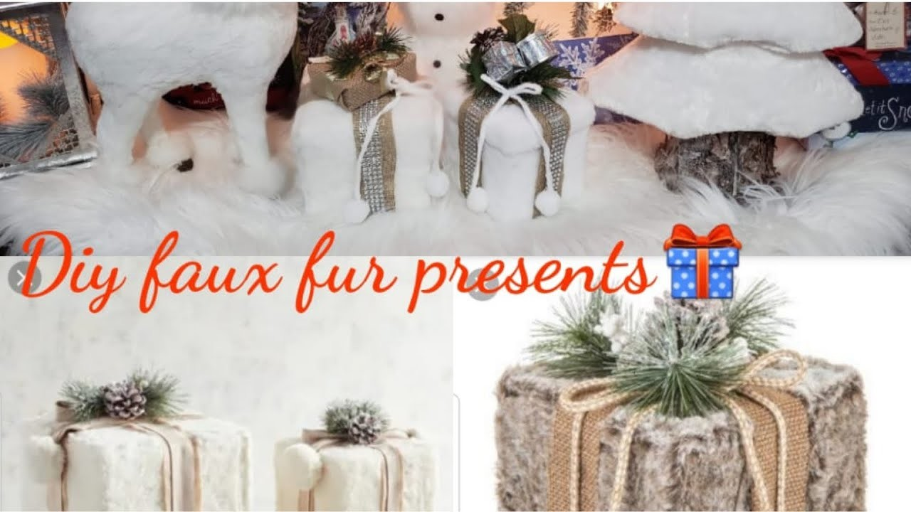 DIY | Faux Fur Presents | 12 Days of Christmas {Day 6}