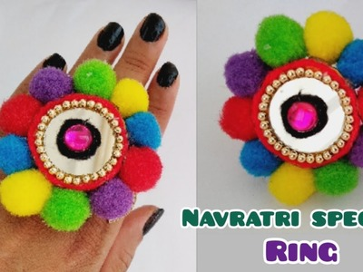 DIY Finger Ring   Navratri Special jewellery   Ornaments  Garba Jewellery At Home   Part - 1, 2018