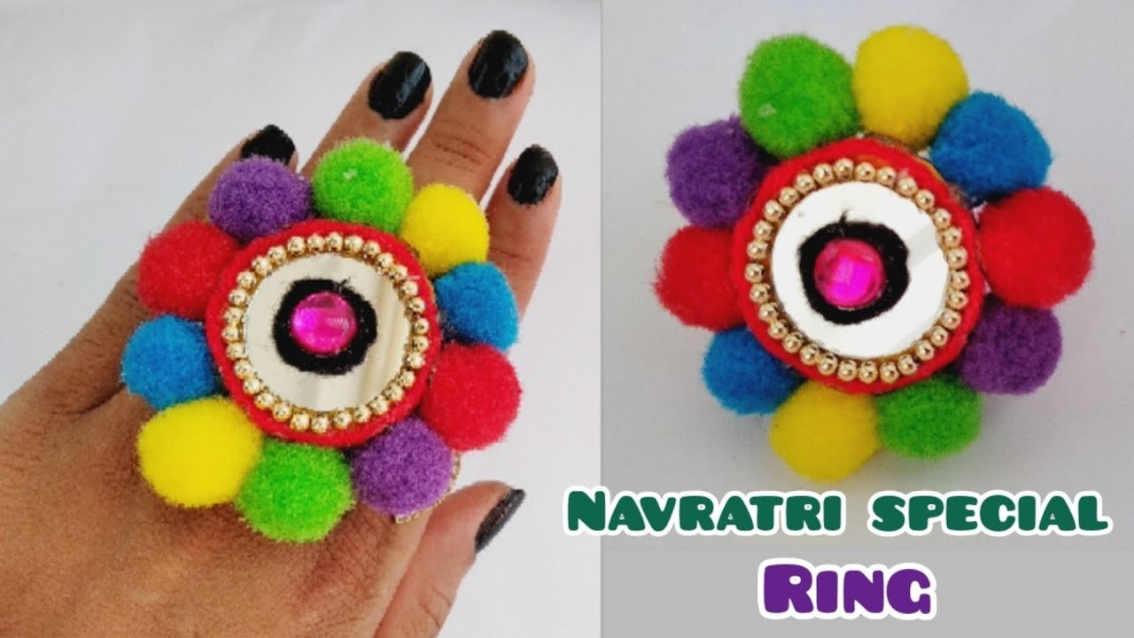 DIY Finger Ring | Navratri Special jewellery | Ornaments |Garba Jewellery At Home | Part - 1, 2018