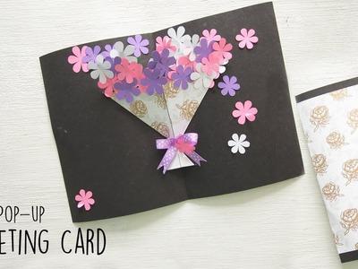 DIY Flower Bouquet Pop up Card   Handmade Card