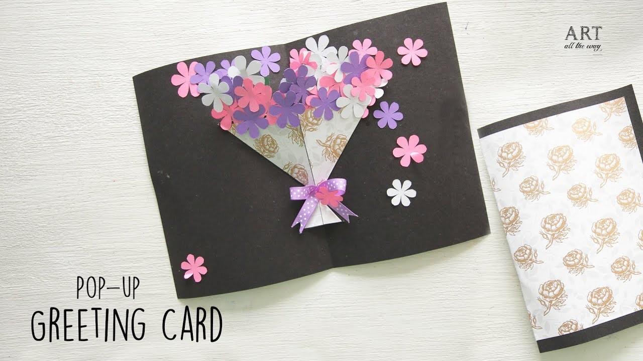 DIY Flower Bouquet Pop up Card | Handmade Card