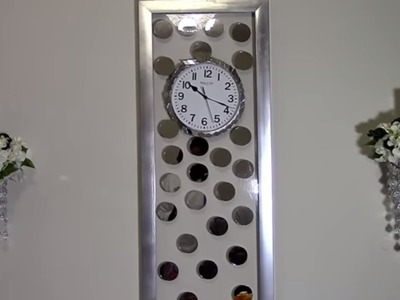 DIY Glam Decor 79Ss'  MIR Wall Clock Dupe $143 vs. $29