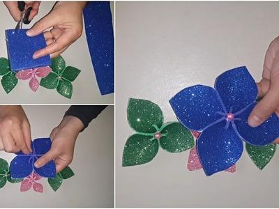 DIY Glitter Foam Sheet Cute Flowers