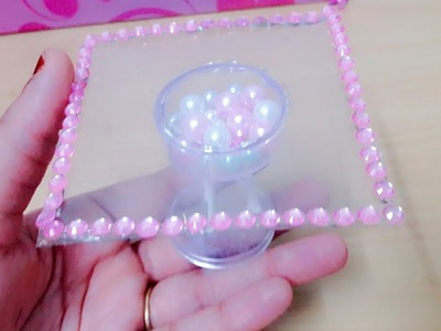 DIY MINIATURE GLASS TOP TYPE TEAPOI.DIY MINIATURE DOLL HOUSE FURNITURE