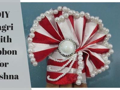DIY Pagri with Ribbon for Lord Krishna
