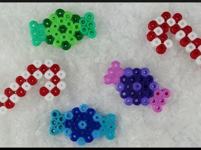 DIY | Perler Beads Candy Cane and Bonbons | Christmas | Bügelperlen Zuckerstangen und Bonbons