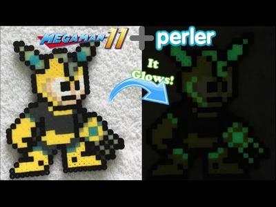 DIY Perler GITD Scramble Thunder MegaMan!!!
