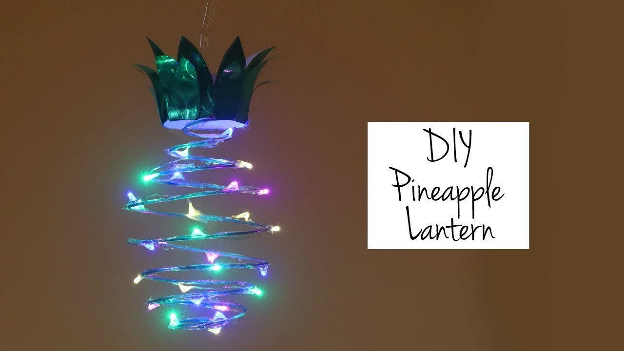 best website 04a9f 817bf DIY Pineapple Lamp. Lantern, Fairy Lights, Quirky Home Decor ...