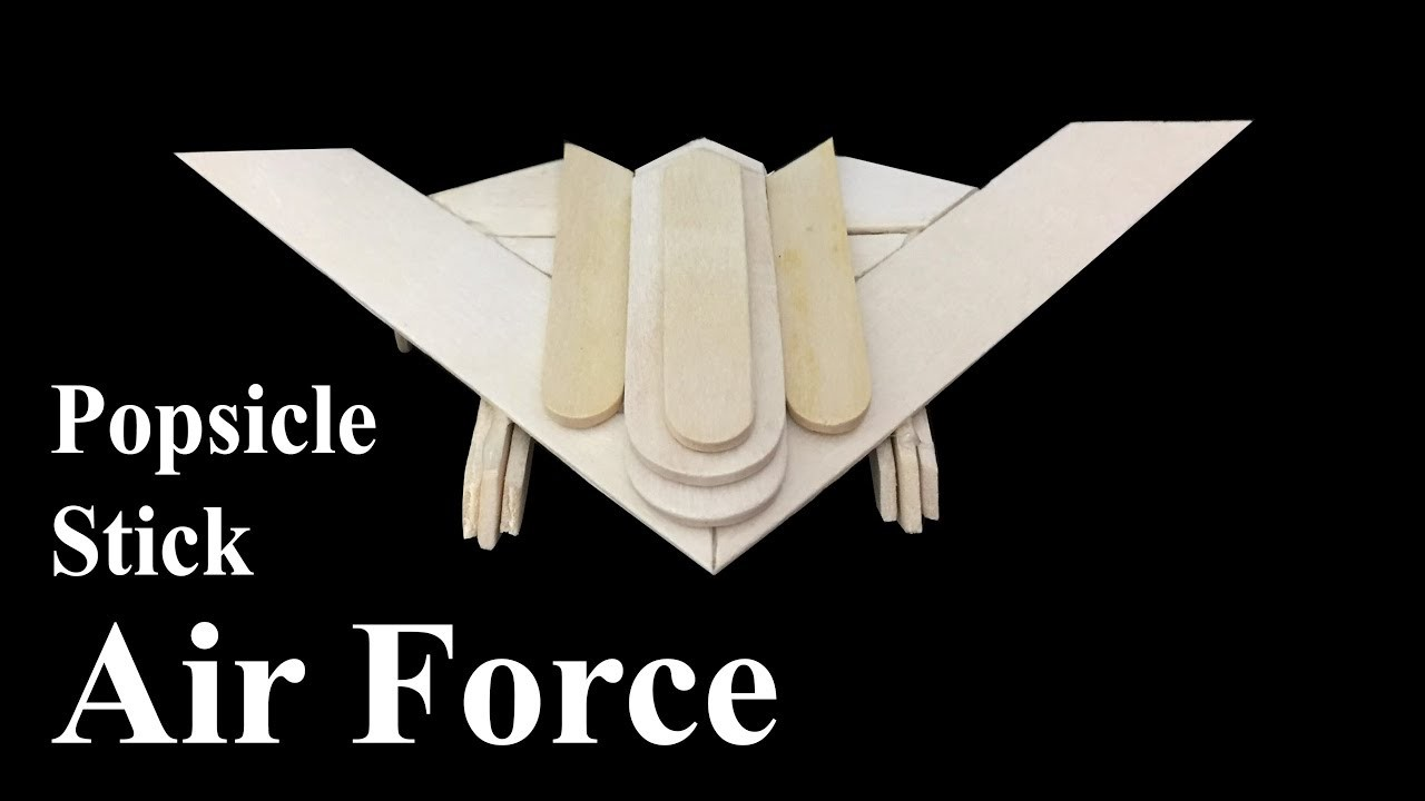Diy Popsicle Stick Plane Air Force Art And Crafts Easy