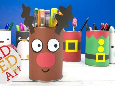 DIY Rudolph Desk Tidy - Easy Christmas Crafts Kids - Reindeer Candy Holder